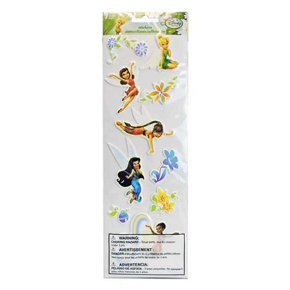 Sticker Sheet Embossed 4x12 Disney Tinker Bell