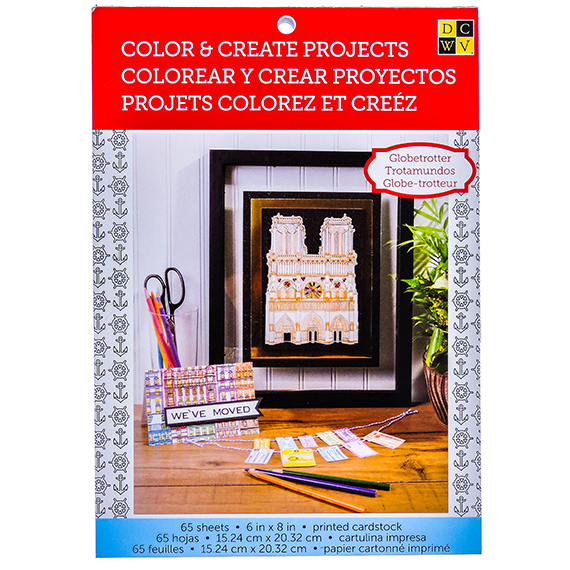 Color and Create Projects 65 sheets - Globetrotter