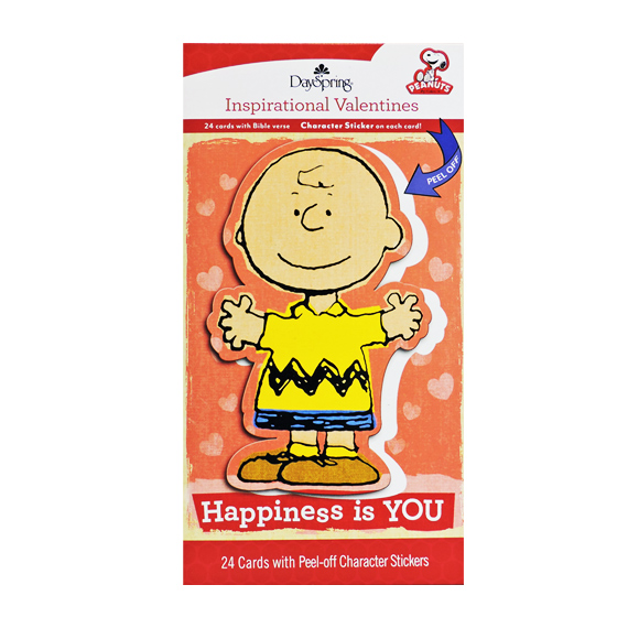 Valentine Cards Peanuts® Happiness is YOU 24ct