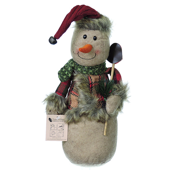 Snowman Decoration weighted bottom  12.5