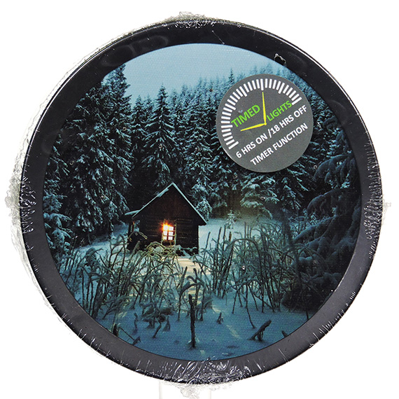 LED Round Cabin scene wall art - light up with timer 6