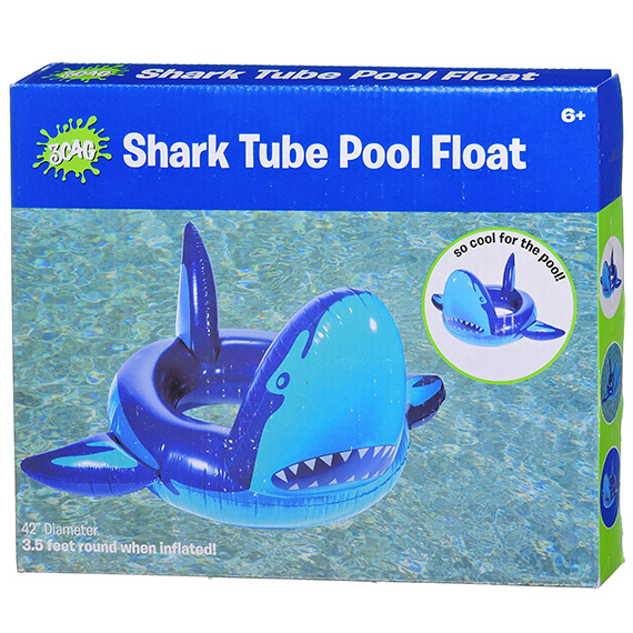 Giant Shark Pool Float 42 Inch Dia Inflated Age 6+