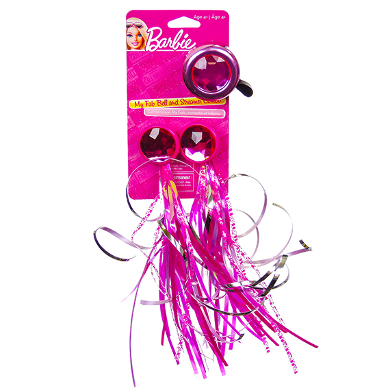 Bike Bell And Streamers Barbie Ages 4 Plus Pink Color