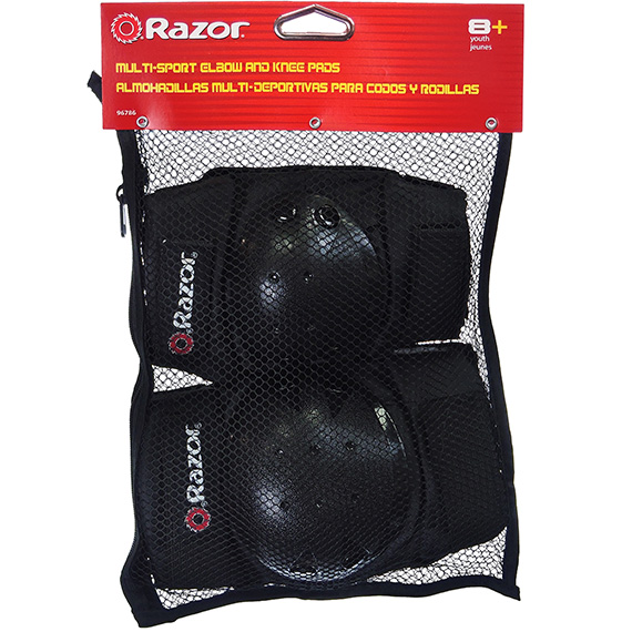 Elbow and Knee Pad Set Razor Mult Sport Youth Black