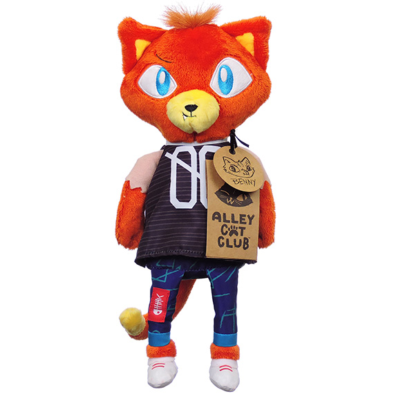 Alley Cats Benny Plush Furry Burnt Orange Color Sportswear