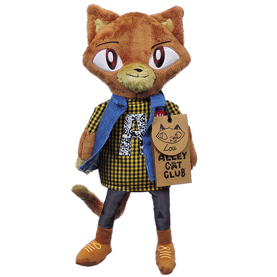 Alley Cats Lou Plush Furry Brown Checkered Shirt Denim Vest