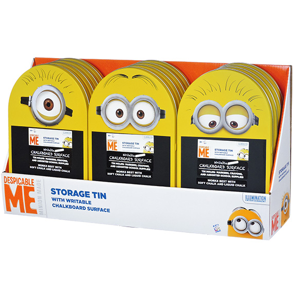 Despicable Me Minions Arch Shape Catchall Writing Tin 3 Asst