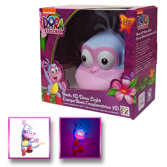 3D Light Deco Dora the Explorer Boots