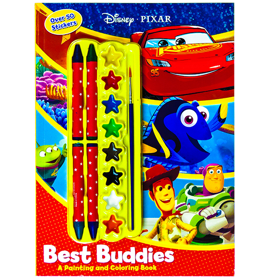 Disney Pixar Best Buddies Book 8 Paints 4 Crayons Age 3 Plus
