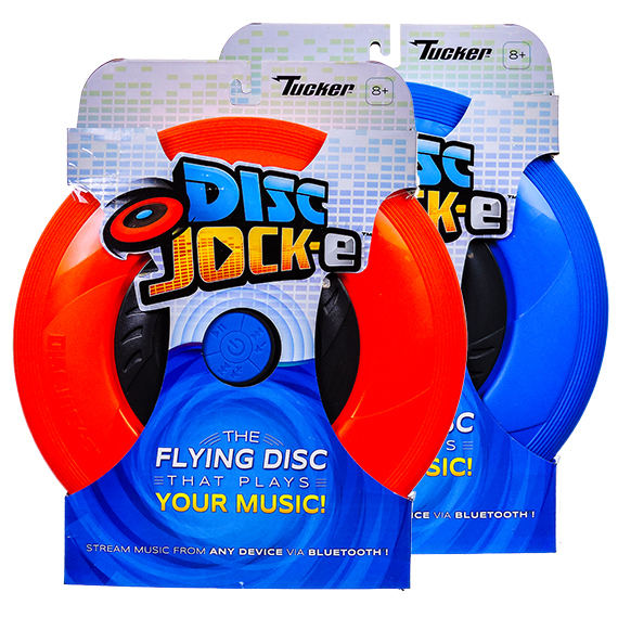 Disc Jock-e flying disc streams music via Bluetooth - 2 asst