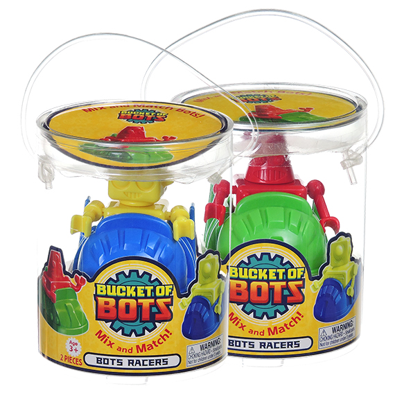 Bucket of Bots mix and match Racers - Bullet Style 2 pcs