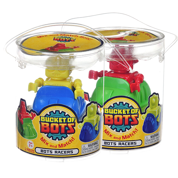 Bucket of Bots mix and match Racers - Bumper Style 2 pcs