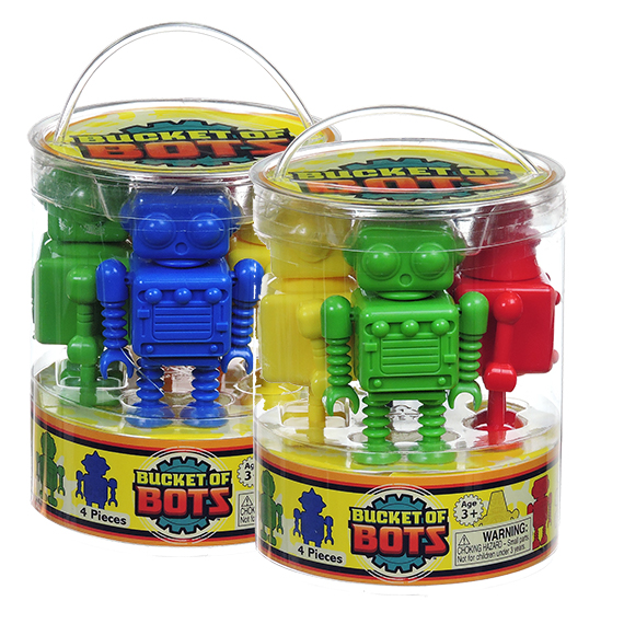 Bucket of Bots Asst 4 Racers 2 Super Shop Packs