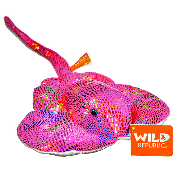 Glitter Stingray Pink Stuffed Toy
