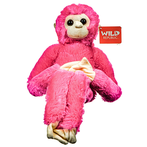 Hanging Plush Monkey - Pink - Stuffed Toy