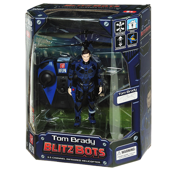 NFLPA Tom Brady 3.5Ch Infrared Flying Figure Helicopter