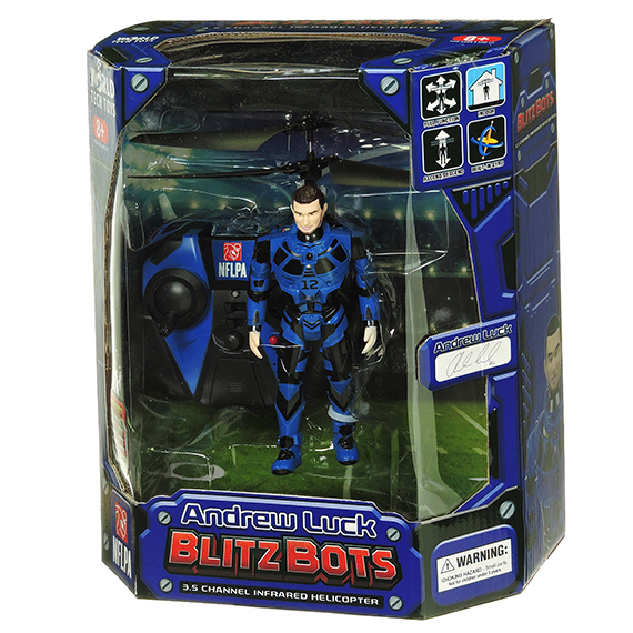 NFLPA Andrew Luck 3.5Ch Infrared Flying Figure Helicopter