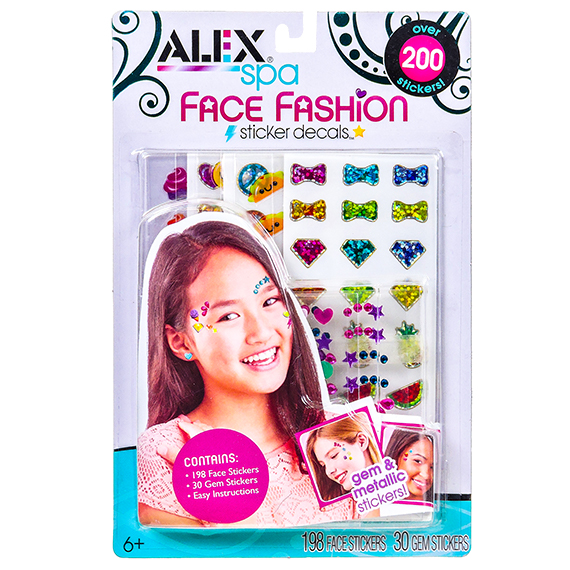 Alex Spa Face Fashion Sticker-198 Face 30 Gem stickers