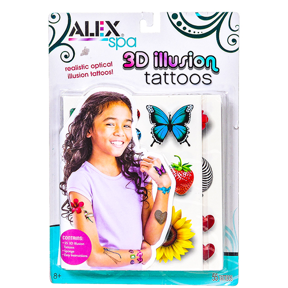 Alex Spa 3D Illusion Tattoos - 55 tattoos