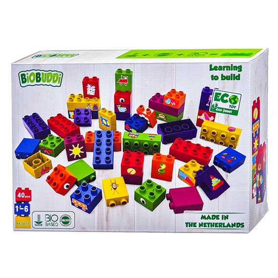Biobuddi Learning to Build Blocks - 40 pieces - Eco Toy