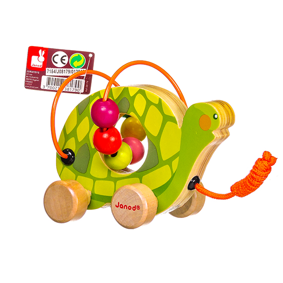 Janod - Mini Looping - Display of 9 - Wooden Baby Toy