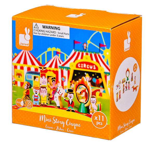 Janod - Story Mini Set - Circus Wooden Figurines