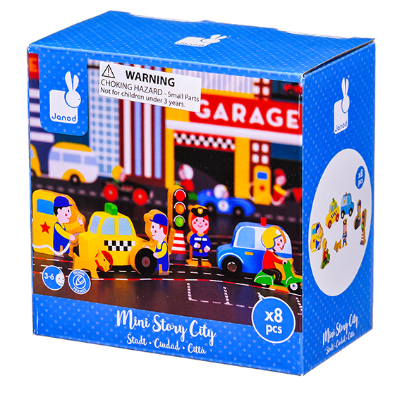 Janod - Story Mini Set - City Wooden Figurines