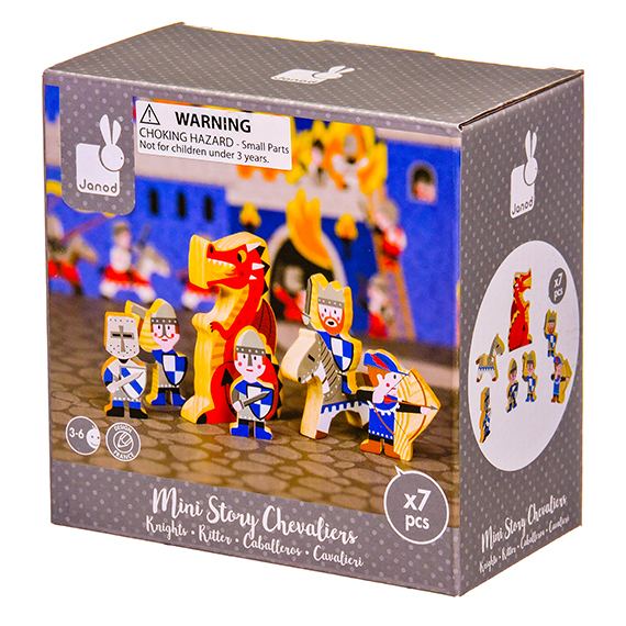 Janod - Story Mini Set - Knights Wooden Figurines