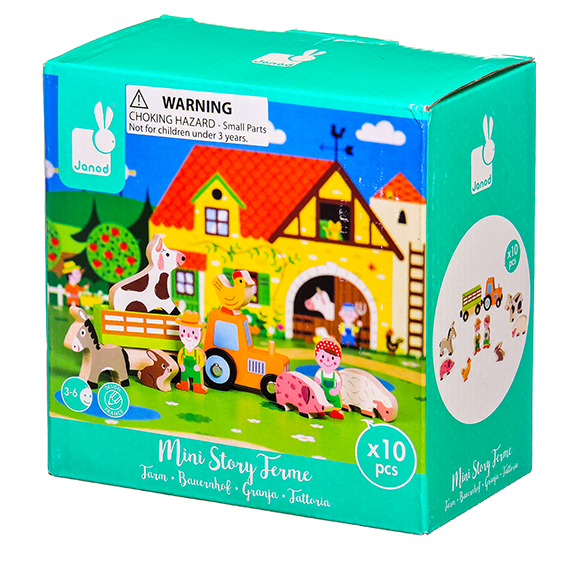 Janod - Story Mini Set - Farm Wooden Figurines