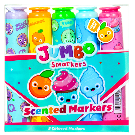 Jumbo Smarkers Sets Of 5 (Display Of 10)