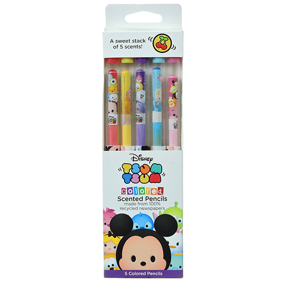 Disney Tsum Tsum Colored Scented Pencils (Set Of 5)
