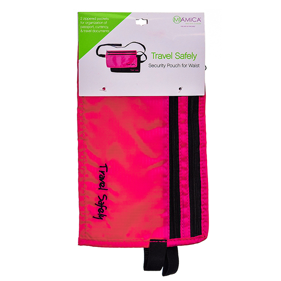 Fuchsia Waist Security Pouch