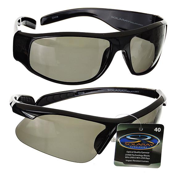 Mens Fashion Sport Wrap Around Sunglasses Black Frames