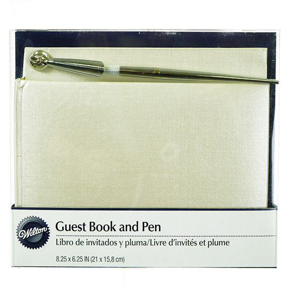 All Occasion Guest Book w/Pen - Pearl White